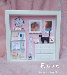 3D Keepsake Frame For Baby Girl