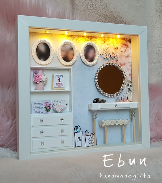 Birthday frame with lights