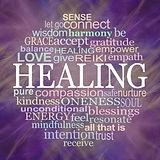 Circle of Healing Word Tag Cloud Coaster