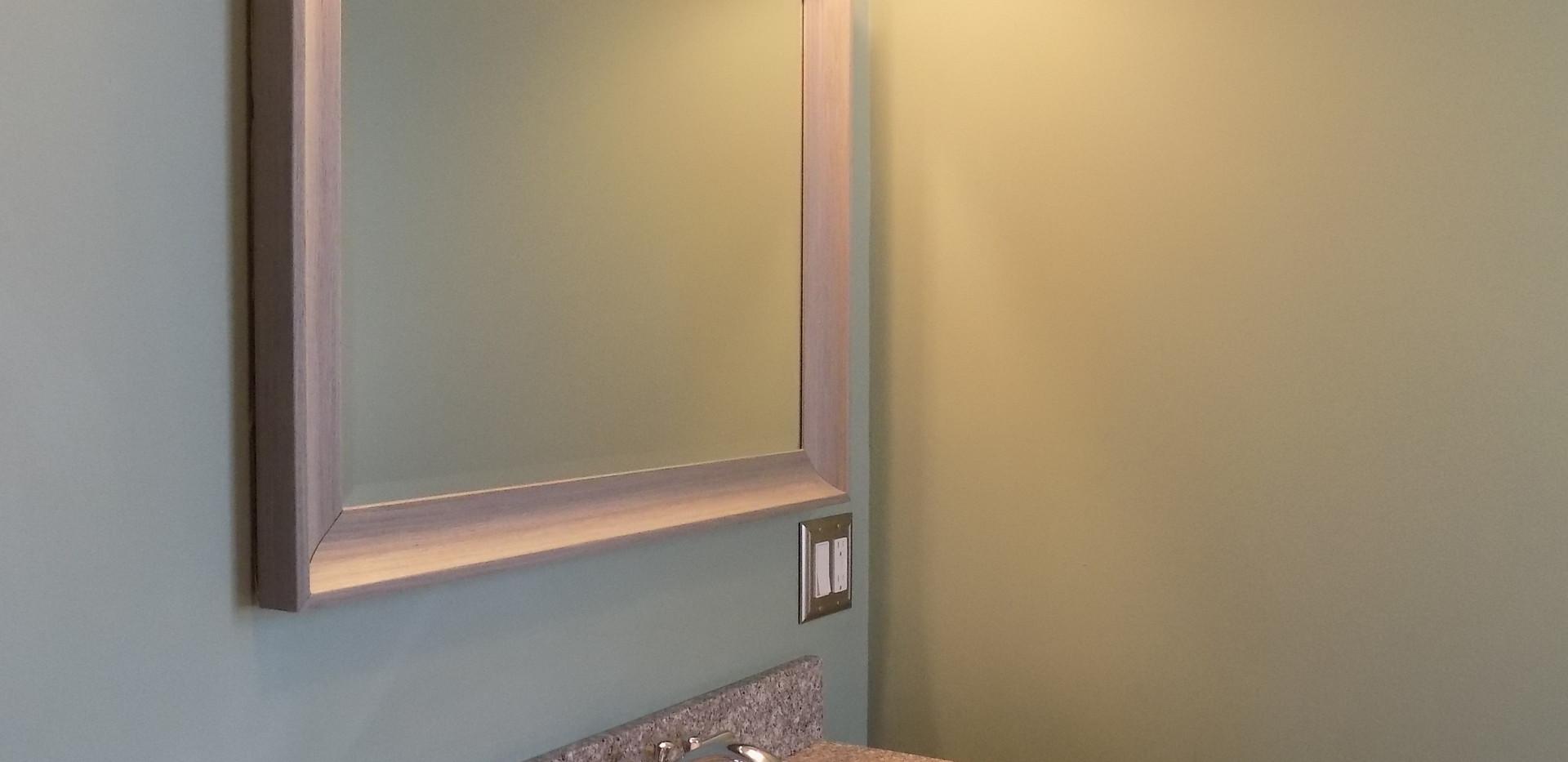Bathroom A sink & mirro
