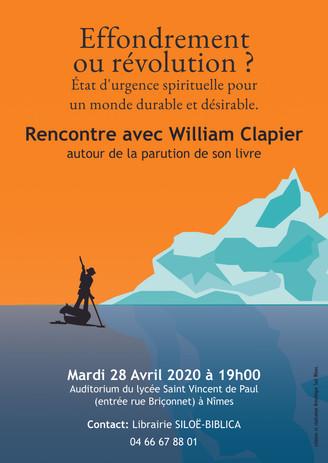 Affiche Rencontre avec William Clapier