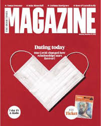 Dating In The Age of Covid: cover of The Times Magazine