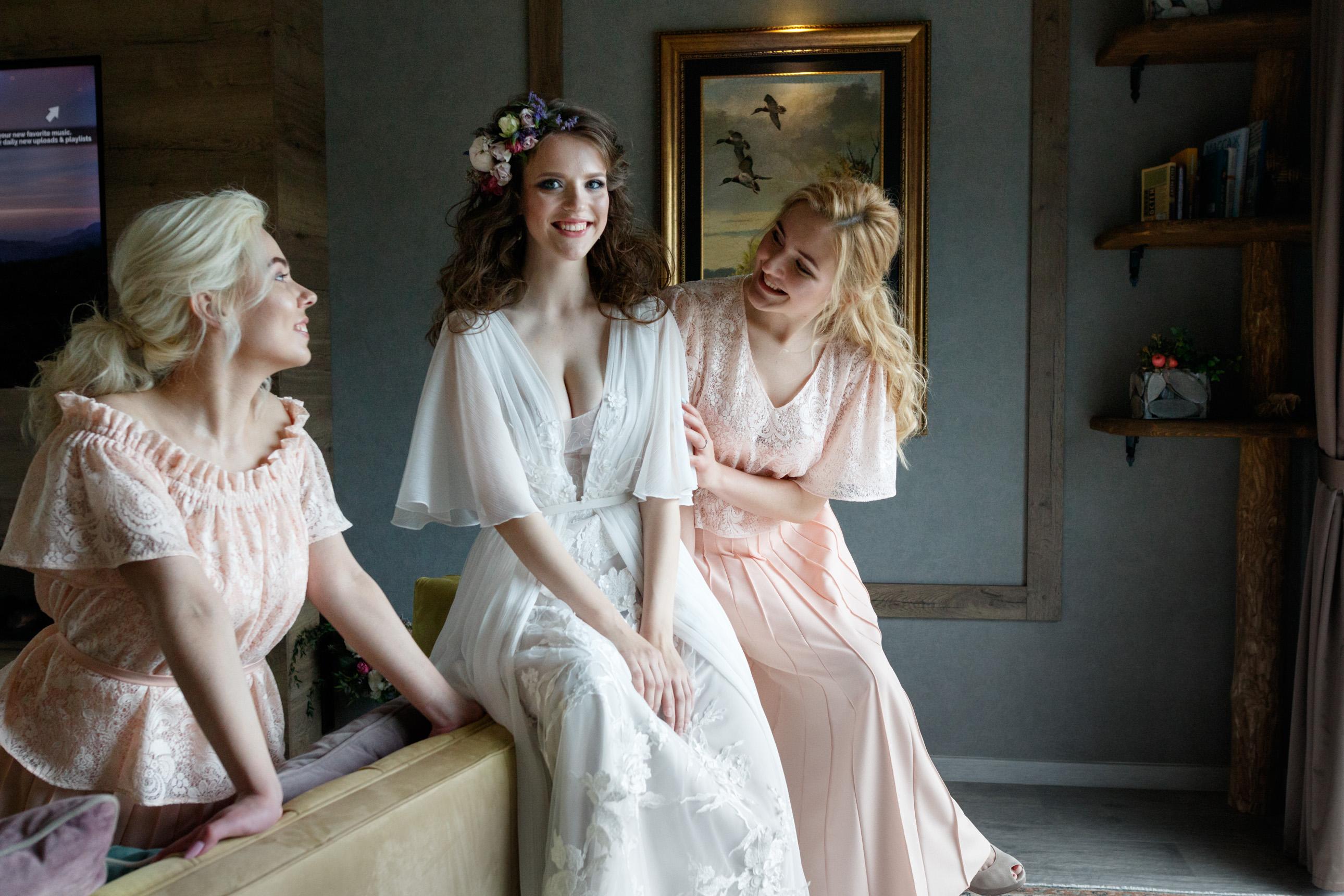 сборы невесты на вилле