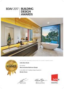 Awarded - Merilyn House - Most Innovative Bathroom Design - BDAV Awards