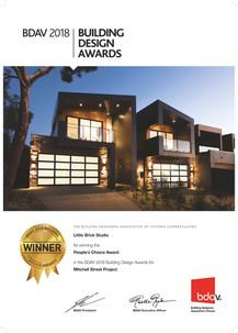 Awarded - Mitchell Street Project - BDAV People's Choice Award