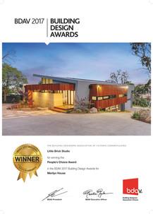 Awarded - Merilyn House - BDAV People's Choice Award
