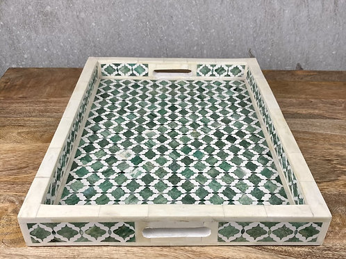 TUSH GREEN BONE INLAY TRAY