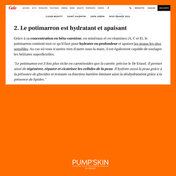 GALA PARLE DE PUMP'SKIN