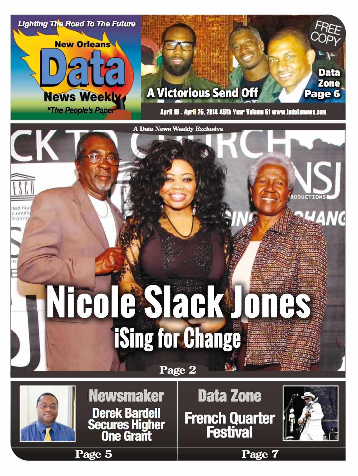 COVER DATA NEWS WEEKLY NEW ORLEANS