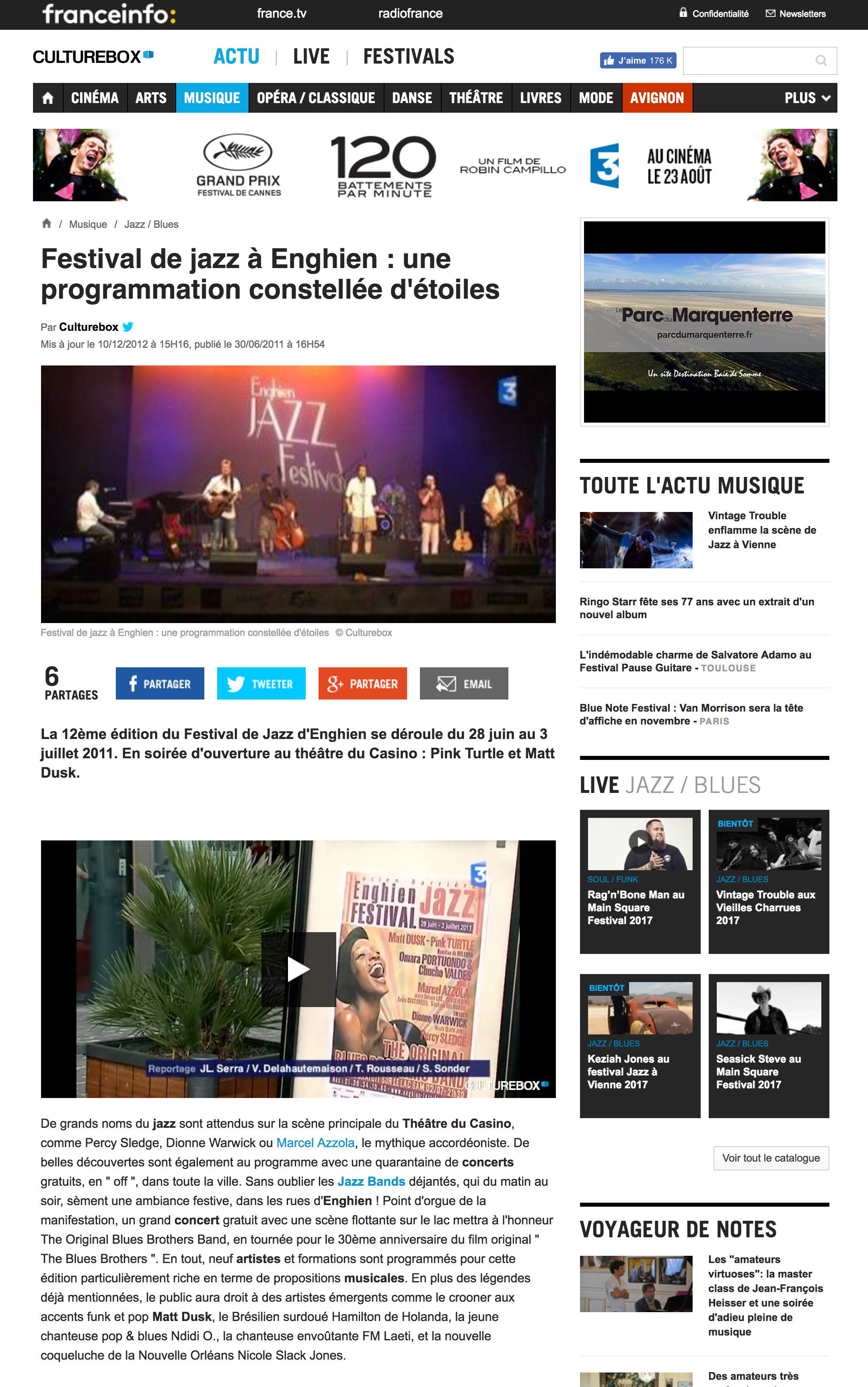 CULTUREBOXE FRANCE TV INFO
