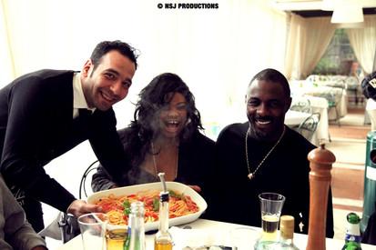 Idris Elba and Nicole Slack Jones lunch.