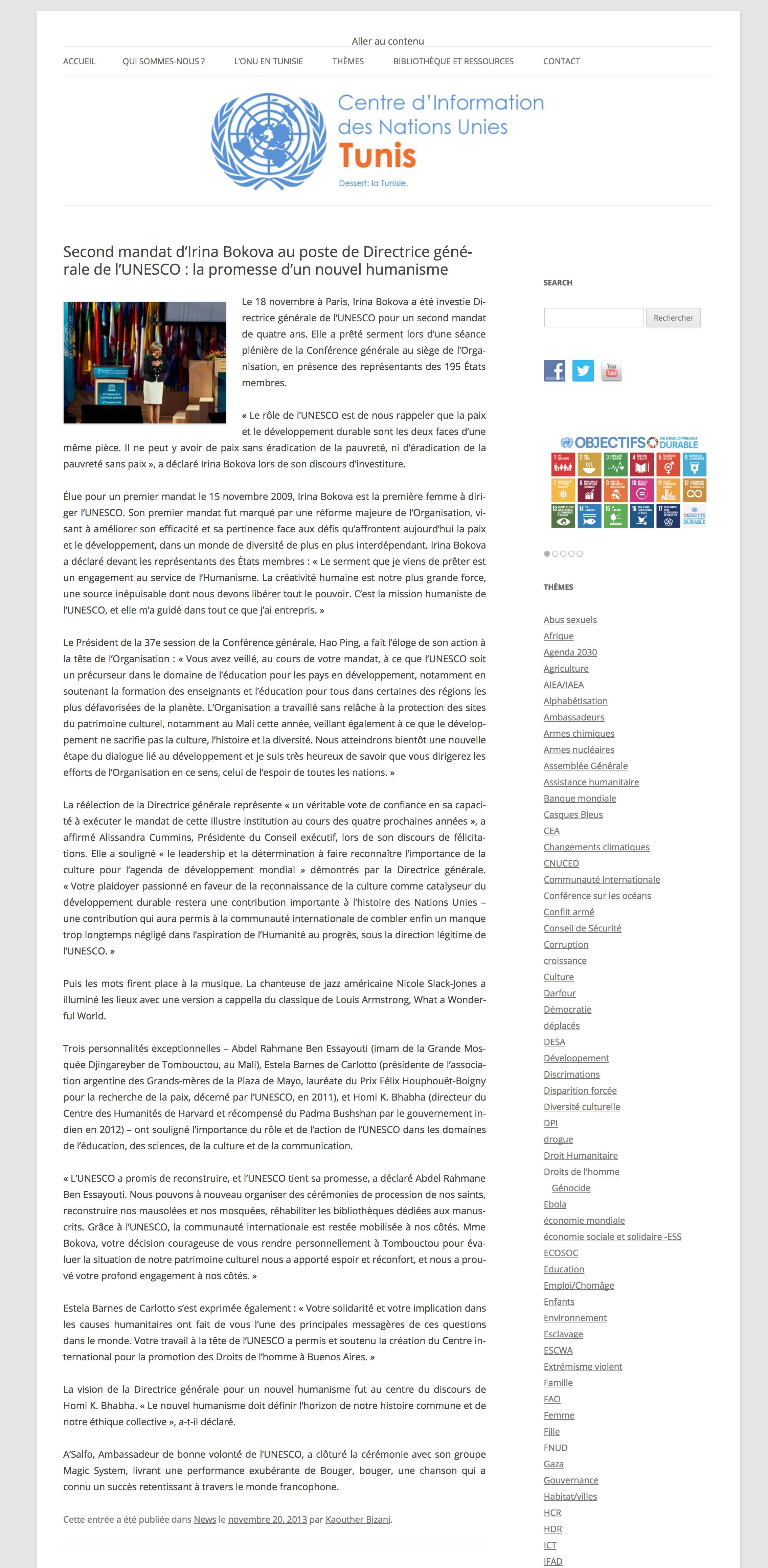 CENTRE D'INFO DES NATIONS UNIS