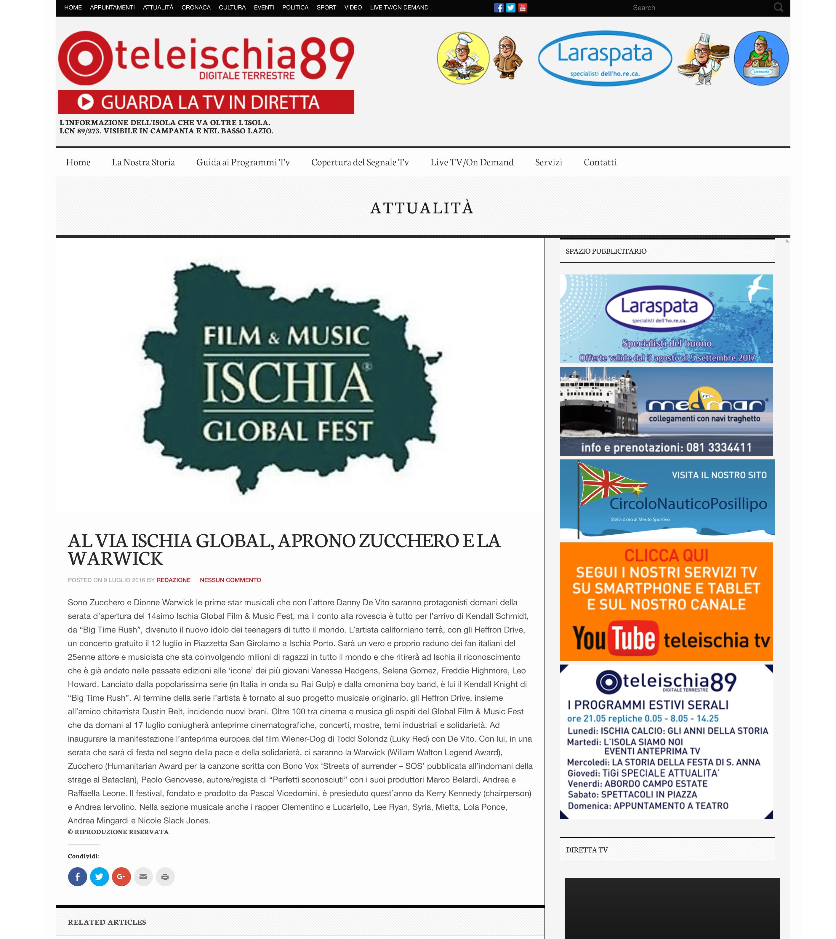 TELE ISCHIA - ISCHIA GLOBAL FEST