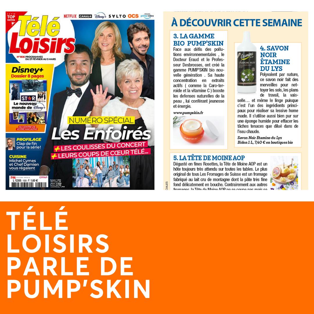 TELE LOISIRS PARLE DE PUMP'SKIN