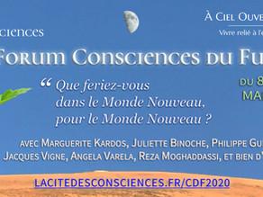 """Forum """"Consciences du Futur"""" du 8 au 10 mai 2020. Le Dr. ERAUD participe à cet événement."""
