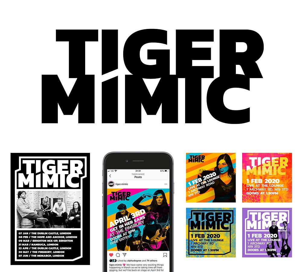 Tiger Mimic's new logo and visual style