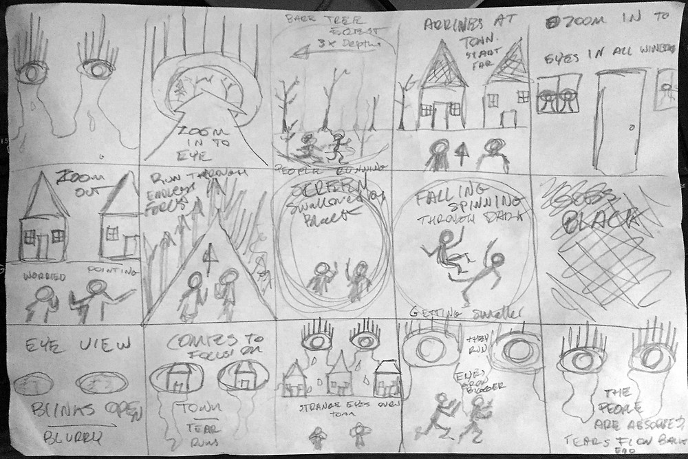 One of Bram's storyboards for the animation - tiger mimic