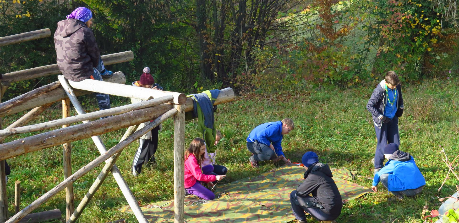 Postavljanje šotora iz šotork