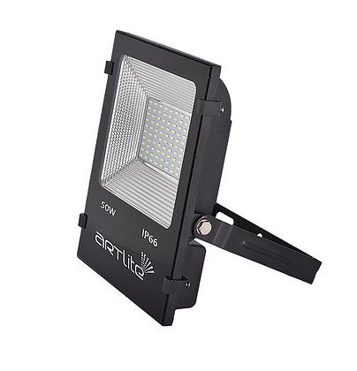REFLECTOR LED SMD CUADRADO SLIM 50W BLANCO CALIDO