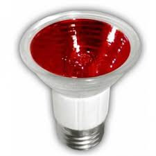 LAMPARA HALOGENO JDR 50W E26 ROJO