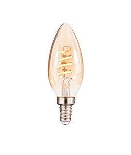 Bombilla de filamento LED Espiral Vertical 127V~ 3.8W