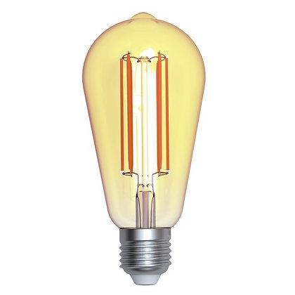 LAMPARA LED FILAMENTO ST64 E26 4W LUZ AMBAR 1800K
