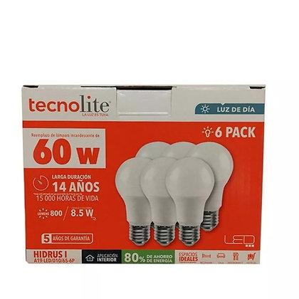 SIX-PACK FOCO LED 8.5W LUZ DE DÍA