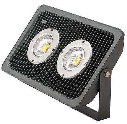 REFLECTOR LED IP65 100W FRIO CON LENTE DE PC DOBLE CURVA ALTO FACTOR .9