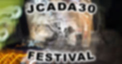 Flyer for J.C.A.D.A Festival. A woman participates in the capitol crawl with swirling light abound