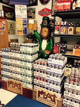 Large Selection of local brews available at Discount Beverages plus Cigaretts
