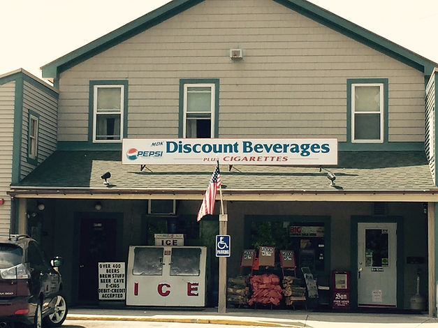 Discount Beverages plus Cigarettes store front located in North Conway