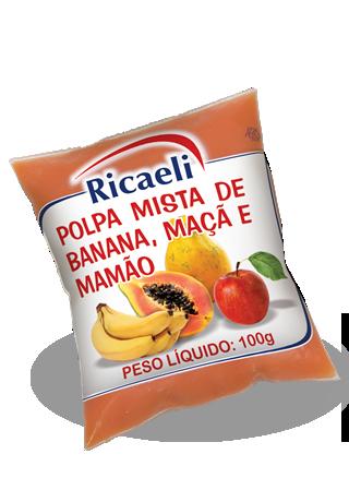 Banana, Mamão e Maça 100g