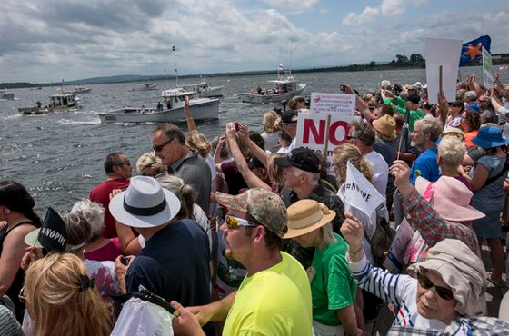 Thousands of Atlantic Canada residents from three provinces protest N.S. pulp mill's effluent plan