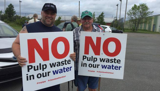 Protesters rally against Northern Pulp effluent pipe