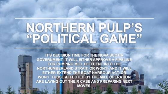 """NORTHERN PULP'S """"POLITICAL GAME"""""""