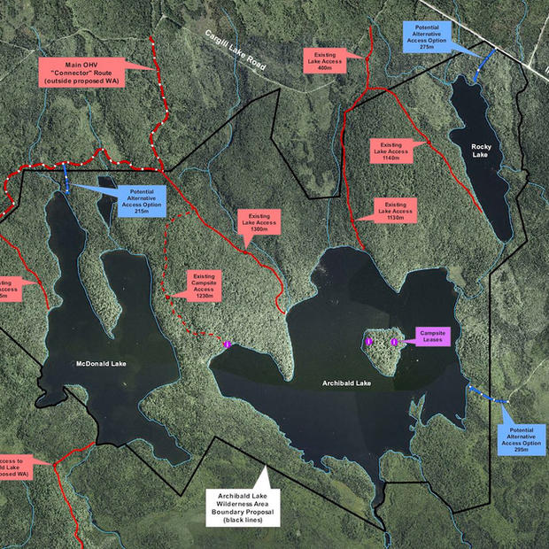 Wilderness Consultations Map