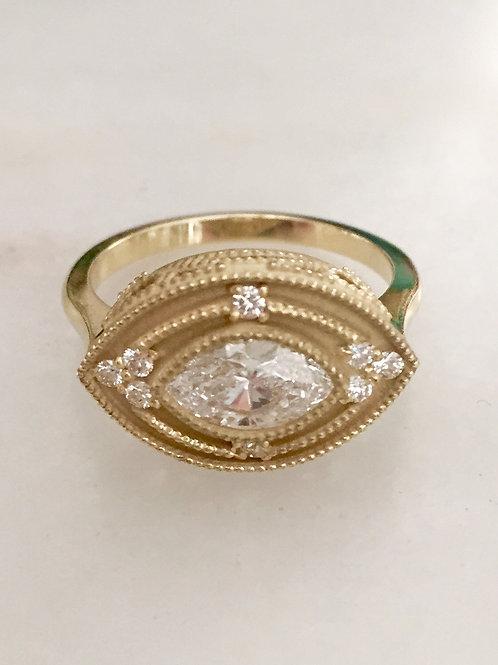 Evil-Eye Diamond Ring