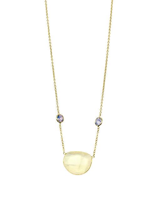 Bezel Set Moonstone and Sapphire