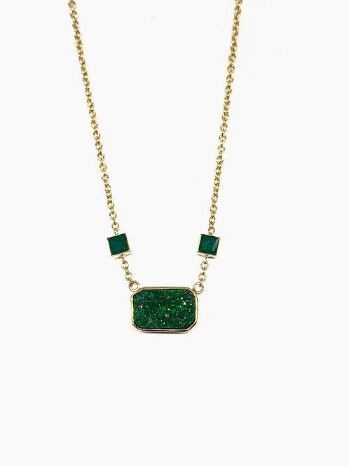 Emerald and Uvarovite Necklace