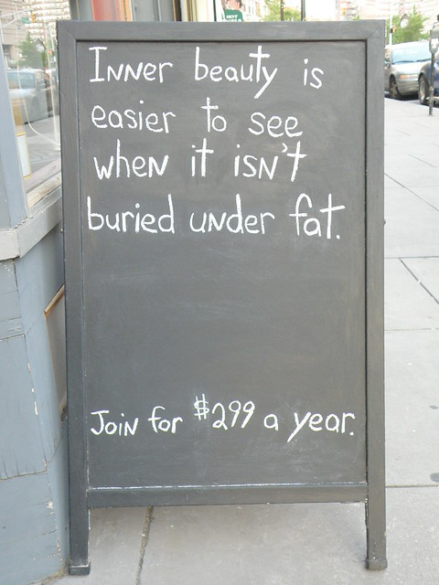 Inner beauty is easier to see when it isn't buried under fat.
