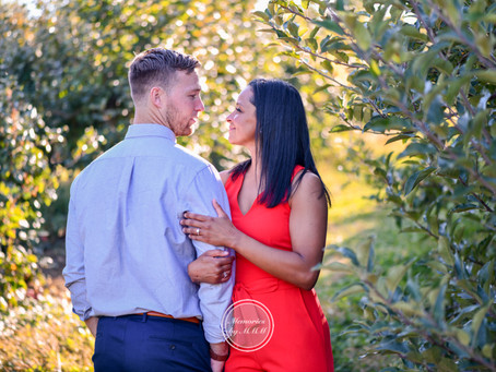 Natalie and Peter's Engagement Portraits at Warwick Valley Winery, NY