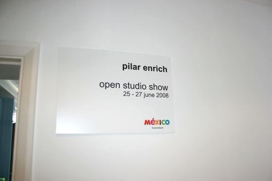 Pilar Enrich open studio 2008