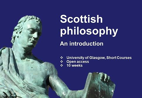 Scottish philosophy: An introduction, Short Courses, University of Glasgow