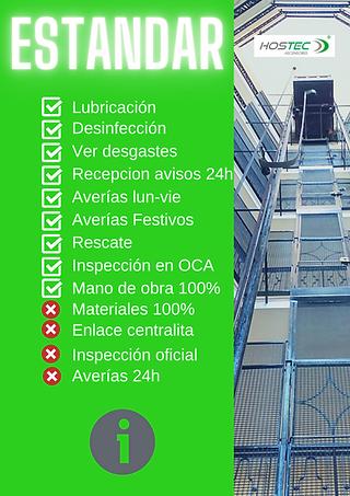 mantenimiento estandar de ascensores en
