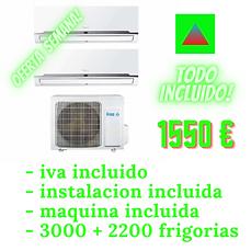 aire acondicionado split 2x1con instalacion