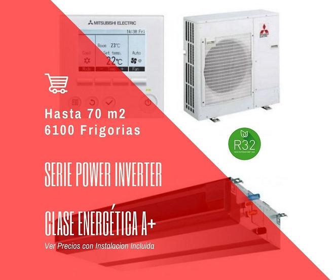 AIRE ACONDICIONADO POR CONDUCTOS MITSUBISHI ELECTRIC MPEZ-71VJA WIFI 6000 fg