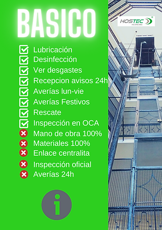 mantenimiento ascensores basico en barce