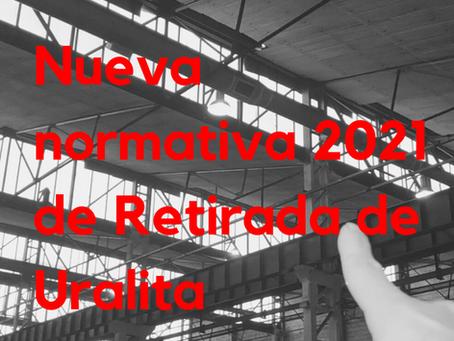 Nueva normativa 2021 de Retirada de Uralita