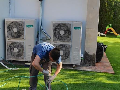 Instalación de aires acondicionados de conductos marca HISENSE