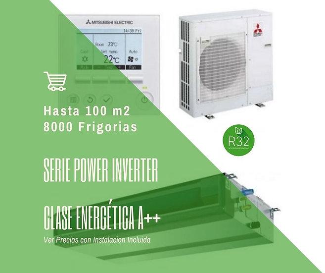 AIRE ACONDICIONADO POR CONDUCTOS MITSUBISHI ELECTRIC MPEZ-100VJA WIFI 8000 fg